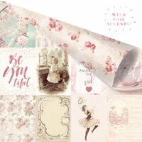 Prima - Love Story Collection - 12 x 12 Double Sided Paper - My Favorite Moments With You with Foil Accents