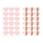Prima - Love Story Collection - Cardstock Stickers with Glitter and Rose Gold Foil Accents - Hearts