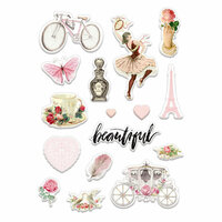 Prima - Love Story Collection - Puffy Stickers