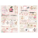 Prima - Love Story Collection - Cardstock Stickers - Quotes and Words