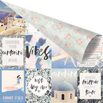 Prima - Santorini Collection - 12 x 12 Double Sided Paper - Summer is Around The Corner with Foil Accents