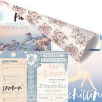 Prima - Santorini Collection - 12 x 12 Double Sided Paper - Enjoying The Sun with Foil Accents