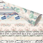 Prima - Santorini Collection - 12 x 12 Double Sided Paper - Together at Santorini with Foil Accents
