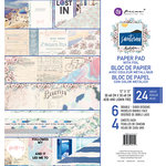 Prima - Santorini Collection - 12 x 12 Paper Pad with Foil Accents