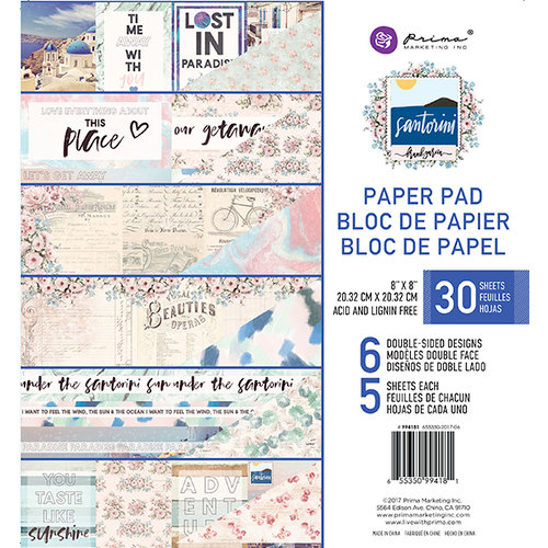 8 Designs//4 Each Prima Marketing Double-Sided Paper Pad A4 32//Pkg-Heaven Sent 2