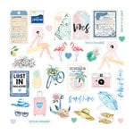 Prima - Santorini Collection - Ephemera with Foil Accents