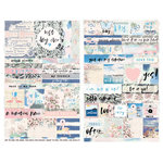 Prima - Santorini Collection - Cardstock Stickers with Foil Accents - Quotes and Words