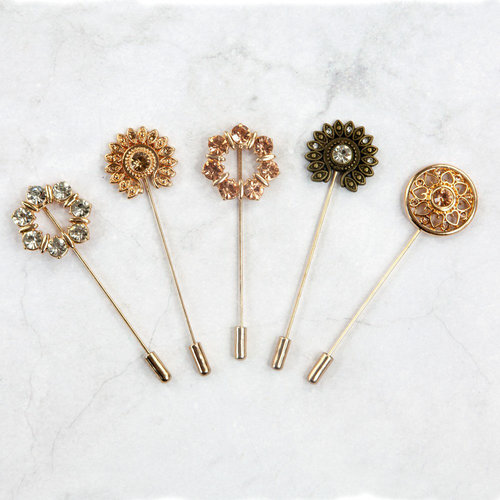 Prima - Memory Hardware - Antique Metalware - Parisian Hat Pins