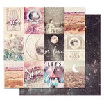 Prima - Moon Child Collection - 12 x 12 Double Sided Paper - In Love With The Moon