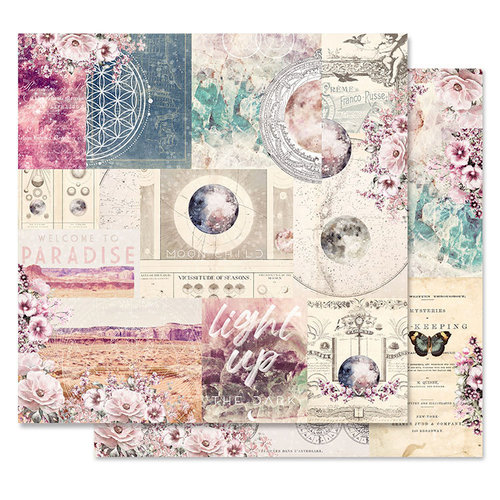 Prima - Moon Child Collection - 12 x 12 Double Sided Paper - Galactic Love