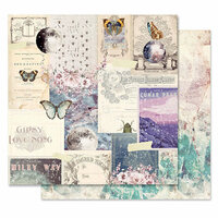 Prima - Moon Child Collection - 12 x 12 Double Sided Paper - Lunar Peak