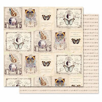 Prima - Moon Child Collection - 12 x 12 Double Sided Paper - Phases Of The Moon