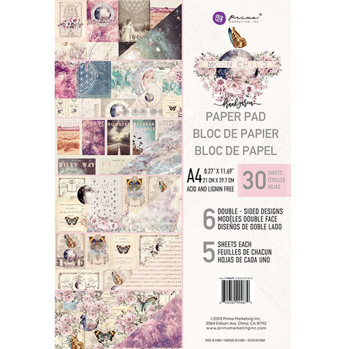 Prima - Moon Child Collection - A4 Paper Pad
