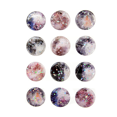 Prima - Moon Child Collection - Enamel Stickers