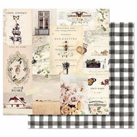 Prima - Spring Farmhouse Collection - 12 x 12 Double Sided Paper with Foil Accents - Beautiful Life
