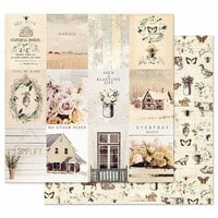 Prima - Spring Farmhouse Collection - 12 x 12 Double Sided Paper with Foil Accents - Simple Things