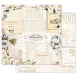 Prima - Spring Farmhouse Collection - 12 x 12 Double Sided Paper with Foil Accents - Gather