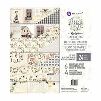 Prima - Spring Farmhouse Collection - 12 x 12 Paper Pad with Foil Accents