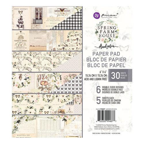 Prima - Spring Farmhouse Collection - 6 x 6 Paper Pad