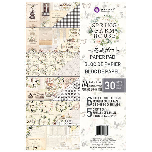 Prima - Spring Farmhouse Collection - A4 Paper Pad