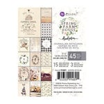 Prima - Spring Farmhouse Collection - 3 x 4 Journaling Cards