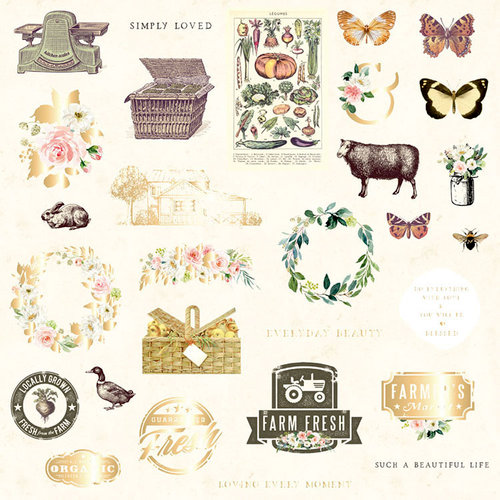 Prima - Spring Farmhouse Collection - Ephemera 2
