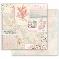 Prima - Golden Coast Collection - 12 x 12 Double Sided Paper - California Dreaming with Foil Accents