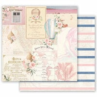 Prima - Golden Coast Collection - 12 x 12 Double Sided Paper - Up In The Air with Foil Accents