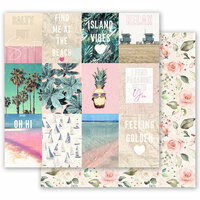 Prima - Golden Coast Collection - 12 x 12 Double Sided Paper - Summer Feeling with Foil Accents