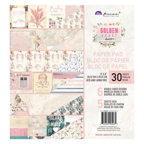 Prima - Golden Coast Collection - 8 x 8 Paper Pad