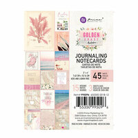 Prima - Golden Coast Collection - 3 x 4 Journaling Cards