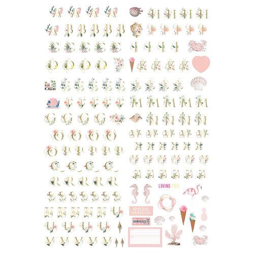 Prima - Golden Coast Collection - Alphabet Stickers
