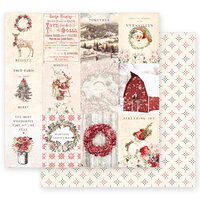 Prima - Christmas in the Country Collection - 12 x 12 Double Sided Paper - Spreading Christmas Magic with Foil Accents