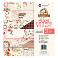 Prima - Christmas in the Country Collection - 8 x 8 Paper Pad