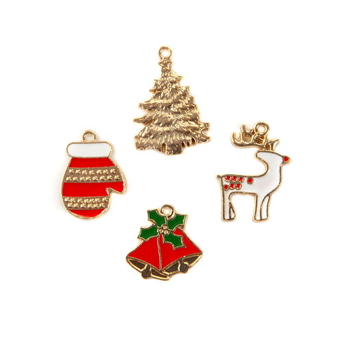 Prima - Christmas in the Country Collection - Enamel Charms