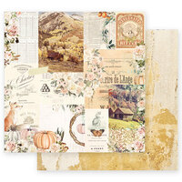 Prima - Autumn Sunset Collection - 12 x 12 Double Sided Paper - Autumn Morning with Foil Accents