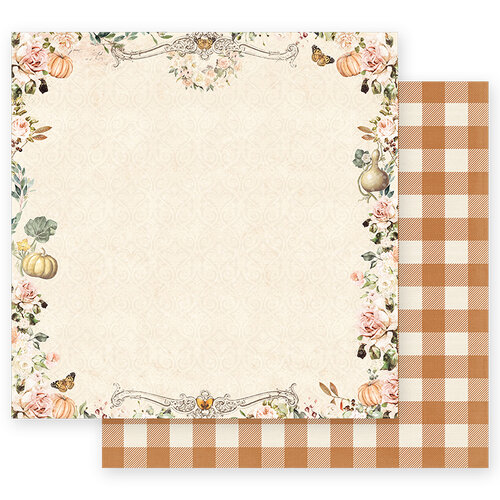 Prima - Autumn Sunset Collection - 12 x 12 Double Sided Paper - Beautiful Sunset with Foil Accents