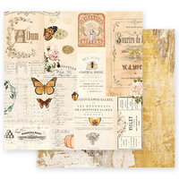 Prima - Autumn Sunset Collection - 12 x 12 Double Sided Paper - Autumn Memories with Foil Accents
