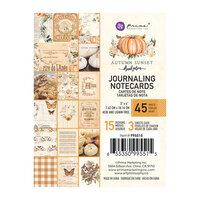 Prima - Autumn Sunset Collection - 3 x 4 Journaling Cards