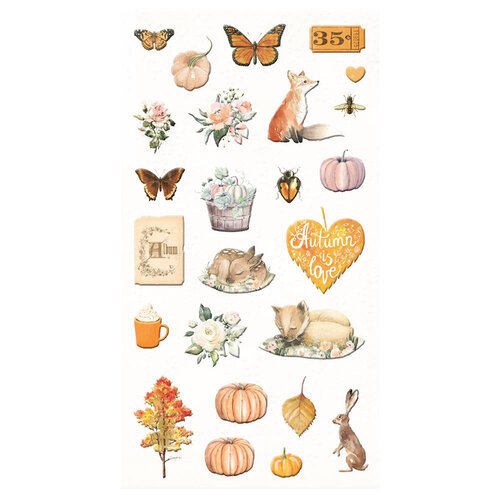 Prima - Autumn Sunset Collection - Puffy Stickers