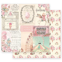 Prima - Dulce Collection - 12 x 12 Double Sided Paper - Dulce Sueno with Foil Accents