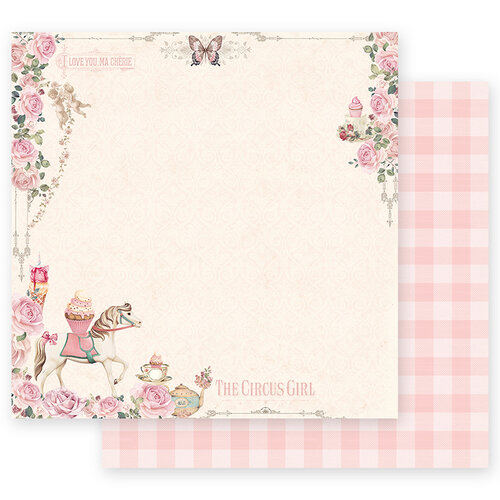 Prima - Dulce Collection - 12 x 12 Double Sided Paper - Let's Go To The Circus with Foil Accents