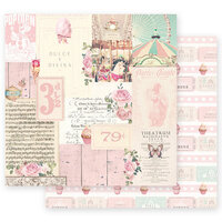 Prima - Dulce Collection - 12 x 12 Double Sided Paper - Divina with Foil Accents