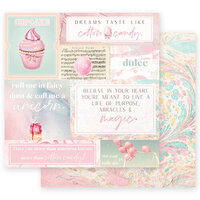 Prima - Dulce Collection - 12 x 12 Double Sided Paper - Fairy Dust with Foil Accents
