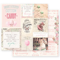 Prima - Dulce Collection - 12 x 12 Double Sided Paper - Some Kind Of Wonderful with Foil Accents