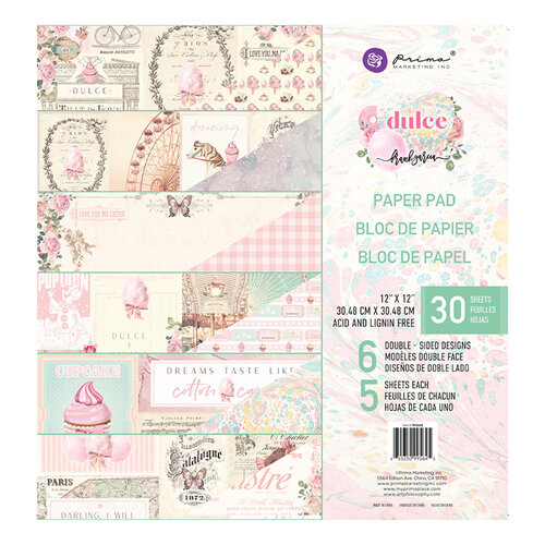 Prima - Dulce Collection - Dulce Collection - 12 x 12 Paper Pad