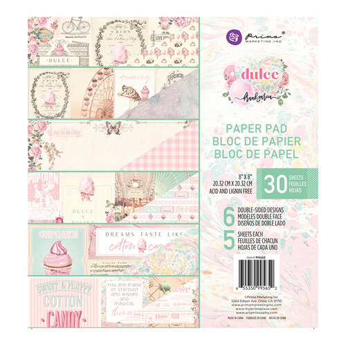 Prima - Dulce Collection - 8 x 8 Paper Pad