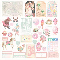Prima - Dulce Collection - Dulce Collection - Ephemera with Foil Accents