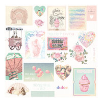 Prima - Dulce Collection - Dulce Collection - Ephemera 2 with Foil Accents