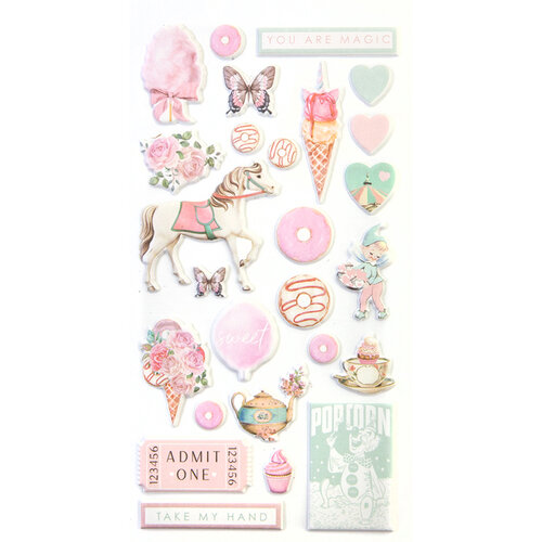Prima - Dulce Collection - Dulce Collection - Puffy Stickers